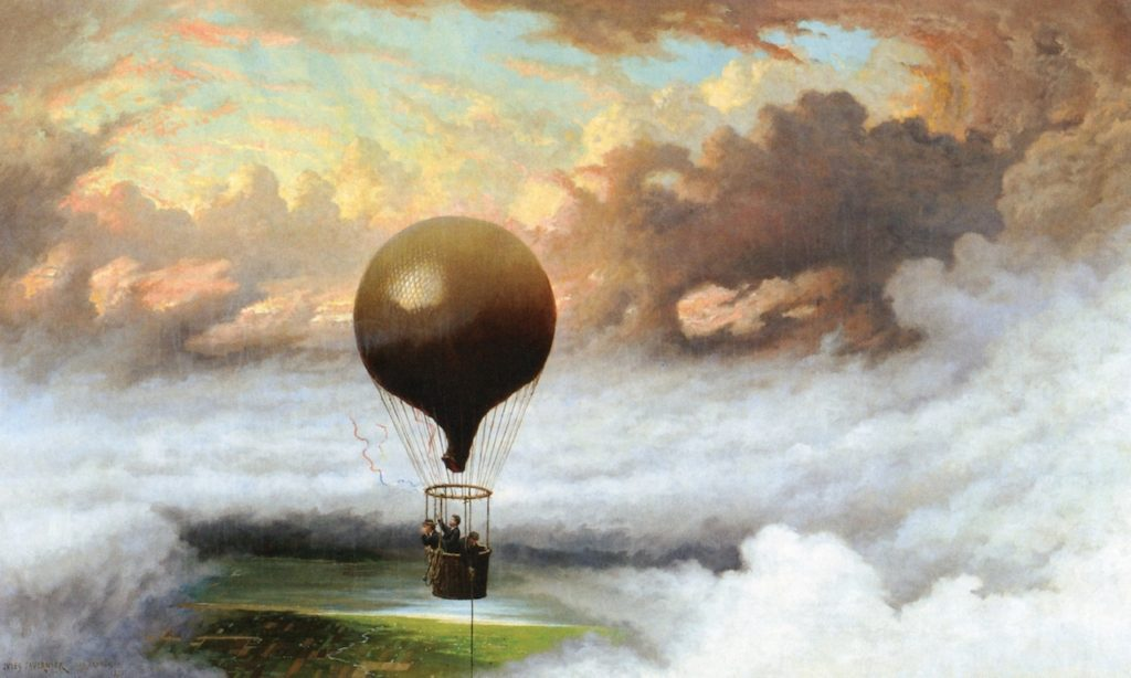 A Balloon in Mid-Air by Tavernier