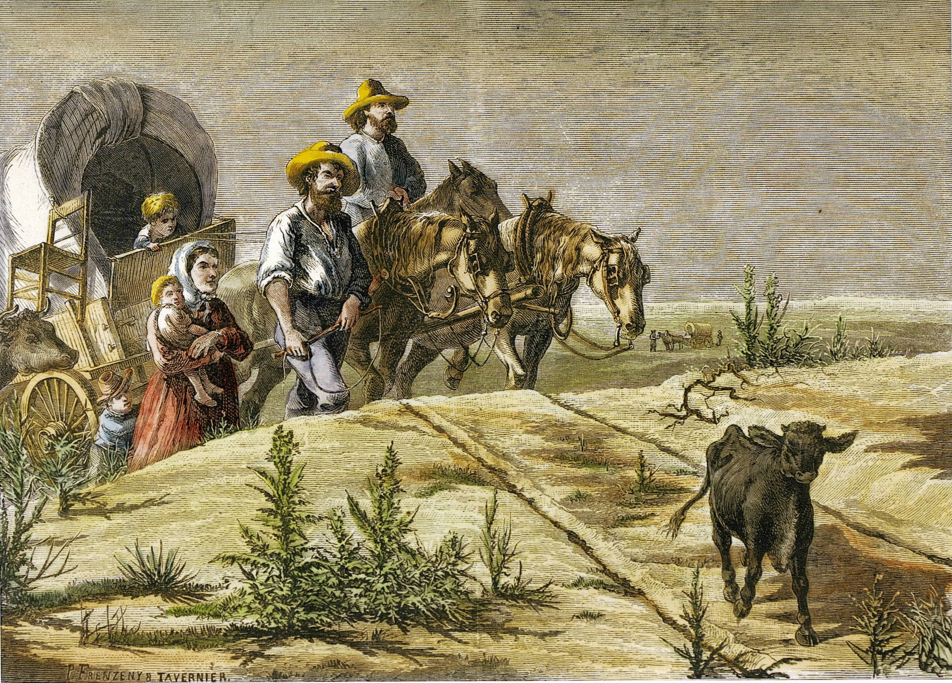 Sketches from the Far West‒Arkansas Pilgrims by Frenzeny and Tavernier