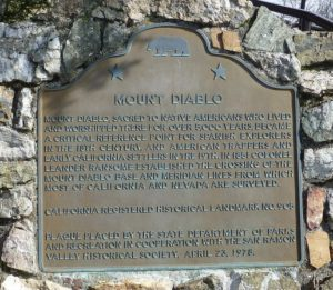 Mt. Diablo Plaque