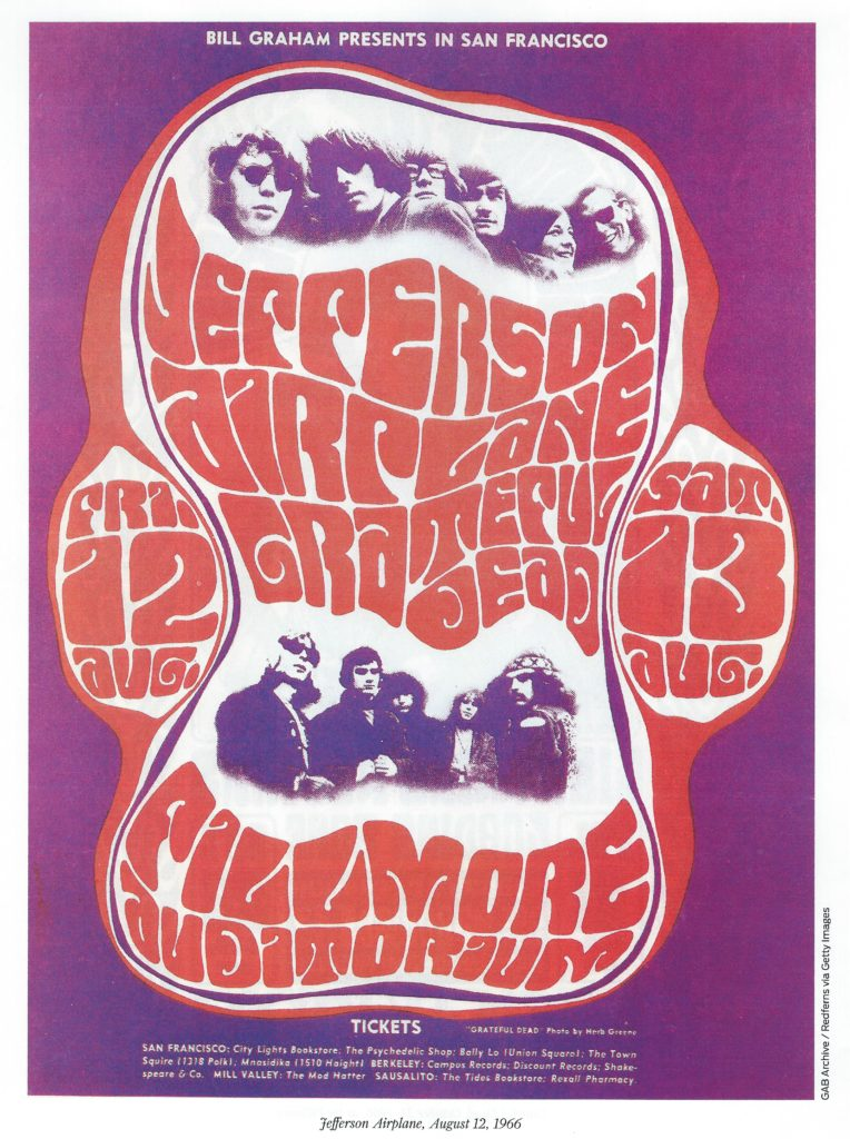 Jeffrson Airplane 1966 poster Courtesy GAB archive Redferns via Getty Images