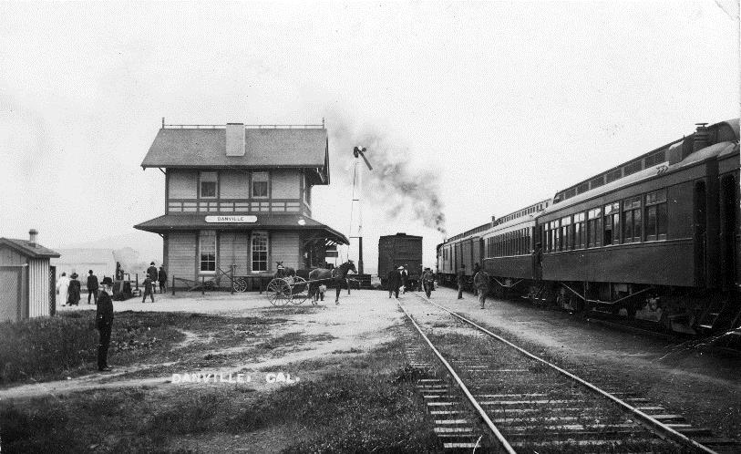The lively Danville depot about 1892